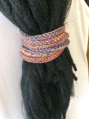 Dread bands, Pink and Purple Dreadlock Accessories, Dread Ponytail, Dread Ties