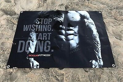 Gym banner cross fit Rogue fitness equipment sign poster  A60A