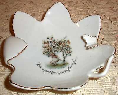 Vintage Holly Hobbie Dish with Butterfly on Rim