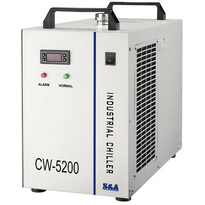 110V CW-5200DG Industrial Water Chiller for One 130W/150W CO2 Laser Tube Cooling