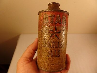 Star Banner Ale Beer Can Cone Top