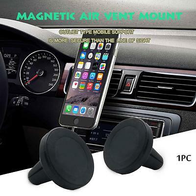 Useful Magnetic Car Air Vent Holder Mount Cradle Stand For Cell Phone GPS Black@