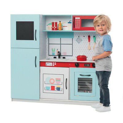 Kids Large Wooden Kitchen Pretend Play Set Toy Children Toddlers Cooking Home 3+