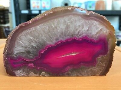 Amazing 0.775 Kilo Pink Agate & Crystal From Brazil (#0613)