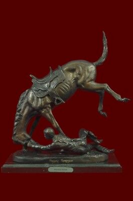 Wicked Pony By Frederic Remington Art Deco Bronze Sculpture Statue Gift Decor Co