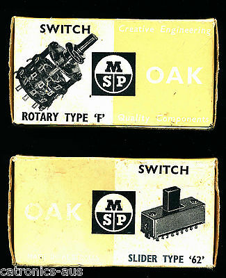 Vintage Rotary Switch 1P11Way OAK *** NEW-in-Box ***  FREE POST  AUS STOCK