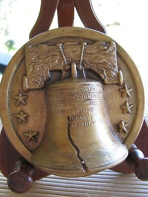 "RARE RANDOTTI ""LIBERTY BELL PAPER WEIGHT"" # 812 MARKED r j"