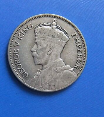 COIN - New Zealand Silver Shilling 1934 George V King & Emperor