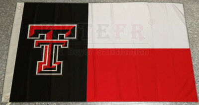 Texas Tech Red Raiders TTU University Large one side Flag 3x5 Texas State style