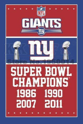 Large 150cm*90cm York Giants NFL champions banner flags racing 3X5 Ft