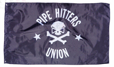 150cm*90cm Black Pipe Hitters Union Flag Pipe Hitters Union Banner 3X5 Flags