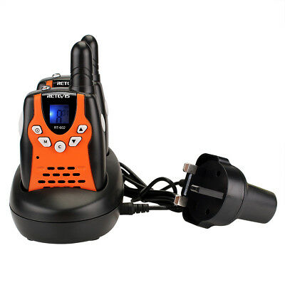 Retevis RT-602 Kids Walkie Talkie Rechargeable PMR446 0.5W LCD Children Toy Gift