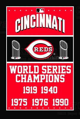 New Cincinnati Reds World Series Champions Flag Banner  3x5FT MLB