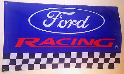 New Ford Racing 3x5 Flag Garage Wall Decor Banner Car Show Gift Mustang GT Cobra
