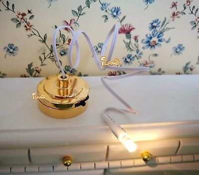 Dollhouse Miniature LED Light  Battery Operated With Switch DiY