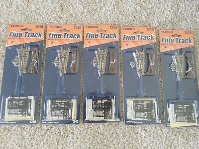 LOT of 5 TOMIX Finetrack 1240 Electric Y-Points N-PY280-15 F (N Scale)