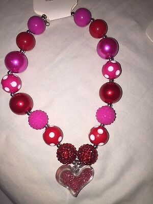 girls Red Heart necklace