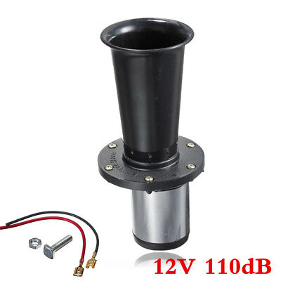 12V 110DB Car Truck Vehicle Antique Vintage Old Style Air Horn Loud AHOOGA Black