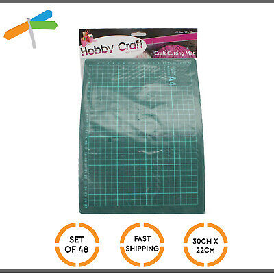 48x Self-Healing Cutting Mat Craft Quilting Grid Line Printed Board Scrapbooking