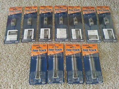LOT of 11 Tomix Finetrack Buffer Tracks - 1421 (112mm) and 1423 (46mm) - N Scale
