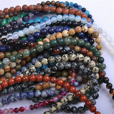 Fashion Wholesale Natural Gemstone Round Spacer Loose Beads 4MM 6MM 8MM 10MM