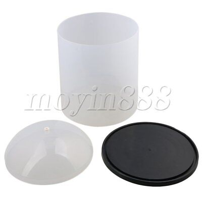 PVC Anti-Dust Seamless D22.5xH30cm Winder Coil Wire Cover with Pedestal