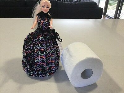 Long Hair Doll, Toilet Roll Cover, Vintage/retro Style, Handmade, New