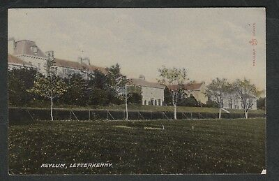 e420)     EARLY 1900's POSTCARD, ASYLUM, LETTERKENNY, DONEGAL IN  IRELAND