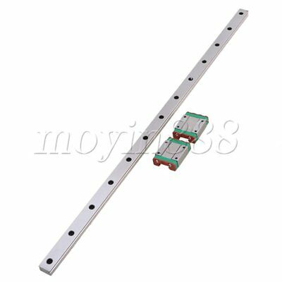 MGN15 Linear Rail Guide Slide 500mm Length With 2 Linear Extension Block