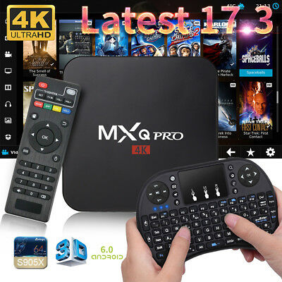 Mxq Pro 4k Amlogic s905x Android 5.1 QUAD-CORE WIFI SMART TV BOX 8gb + TASTIERA