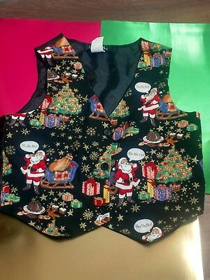 111 MAIN CHRISTMAS VEST childs/youth SIZE holiday decorations December free ship