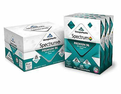 "Premium 96 Printer Paper Copy GP Spectrum Ink Jet Laser 8.5 x 11"" 3 1500 Sheets"