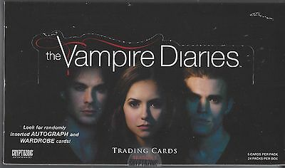 VAMPIRE DIARIES Season 1 Factory Sealed Trading Card Box Auto's / Wardrobe cards