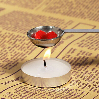 Metal Sealing Wax Melting Spoon for Wax Seal Stamp Envelope Letter Silver