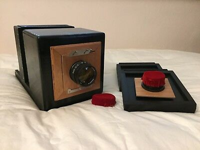 Wooden Camera 4x5 inc +chassis+Lens X Wet Plate Collodion Photography brass wood