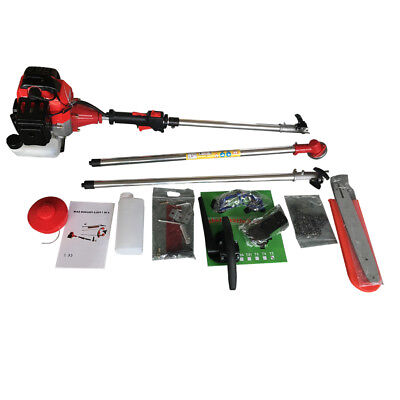 43CC 5 in1 Hedge Trimmer Garden Lawn Chain Saw Petrol Strimmer Multi Tool Kit UK