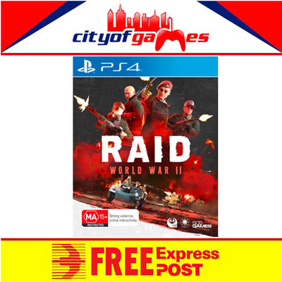 Raid World War II 2 PS4 Game New & Sealed Free Express Post In Stock