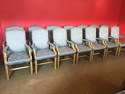 Set 14 Chairs, Pro French Polished, Part Of Boardroom Table Set
