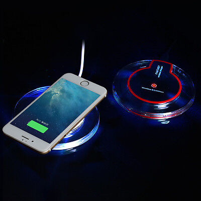 Round Wireless Charger Qi Charging Pad for iPhone 8 iPhone 8 Plus/Galaxy Note 8