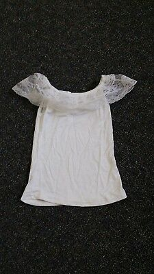 Size Small (1-2 Guess) White Lace Baby Girl's Shirt