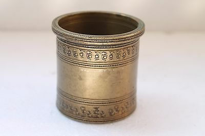 Antique Brass Hand Engraved Hindu Holy Water Ganga Jal Pot Panchpatra NH3101