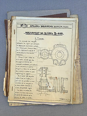 Antique documents technique business loom old papers french antique