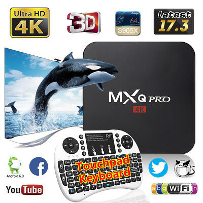 Genuine MXQ Pro 4K Android 6.0 1G+8G Smart WIFI TV Box Quad Core S905X Keyboard