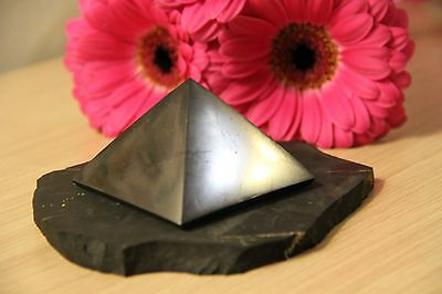 Shungite pyramid EMF protection stone chakra crystal grounding vibration reiki