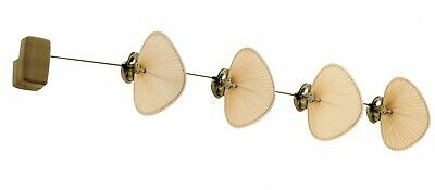 THE PUNKAH ceiling & wall mount fan Brass antique / Wide oval natural palm short
