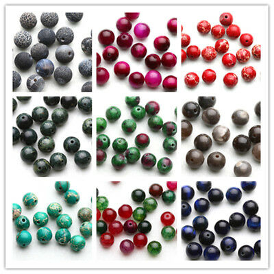 4/6/8/10mm Wholesale Natural Stone Gemstone Round Spacer Charm Loose Beads