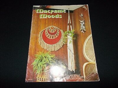 Vintage~Macrame Book~Macrame Moods~14 Projects~Plant Hangers~Owl~Bath Swag~1976
