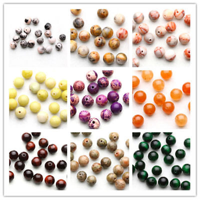 Wholesale Lot 4/6/8/10mm Natural Stone Gemstone Round Spacer Charm Loose Beads