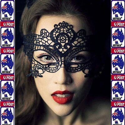 Black Sexy Masquerade Women LadIes Lace eye mask Costume Party Fancy Dress Ball