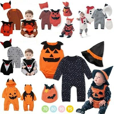 3PC Set Baby Toddler Boy Girl Halloween Costume Fancy Dress Party Outfit Clothes
